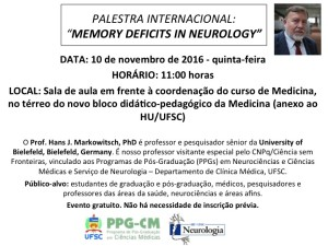 Palestra Internacional_10 de novembro_Memory deficits in Neurology